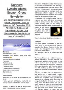 newsletter cover for December 2019